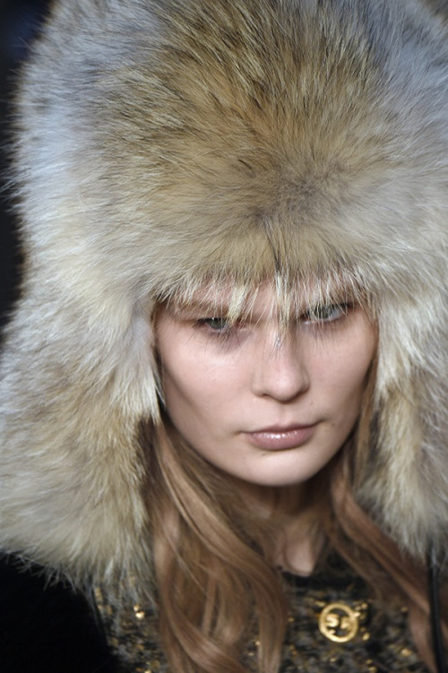 Fur hats at Sonia Rykiel (Credit: AFP Photo/ Martin Bureau)
